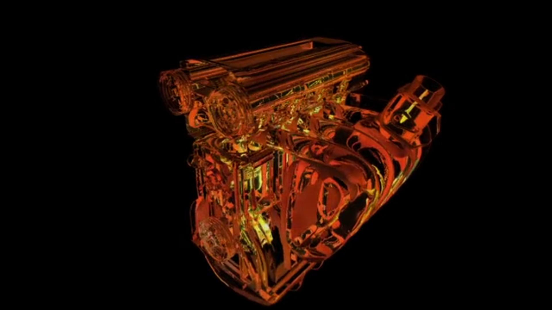 Kolben-Glas-Motor Animation